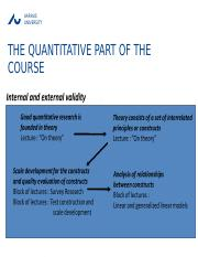 Lek 3 - The quantitative part of the course (Internal and External validity).pptx