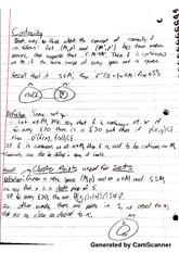 Introduction to Real Analysis - Continuity and Cluster Points Notes