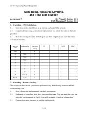 2016-10-20 CE167 HW07 Scheduling - Leveling - Time-Cost.pdf