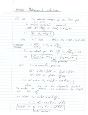 Phys 203 Midterm Solutions.