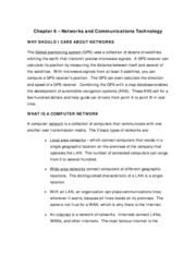 Chapter 6 - Networks and Communications Technology (Summary Notes)