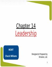 Chapter 14 - Leadership