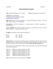 International Economics syllabus Fall 2014