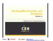 CEHv7 Module 16 Evading IDS, Firewalls, and Honeypots
