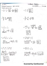 rational expressions Hw