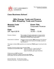 Corporate Finance-April-May 2016