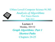 Lecture Notes C on Analysis of Algorithms