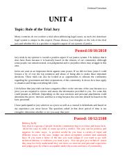 CJ227-01 Unit 4 Discussion - Role of the Trial Jury.docx