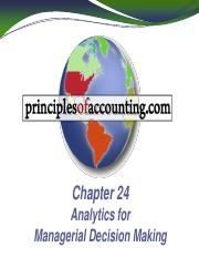 041915 PoA Chap 24 - Analytics for Managerial  Decisions