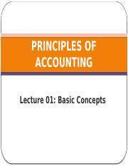 PRINCIPLES OF ACCOUNTING 2101 LECTURE 01