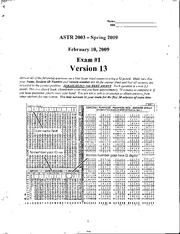 Exam 1 astrology 2003