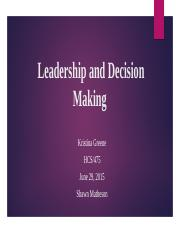 LeadershipandDecisionMaking