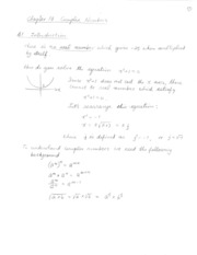 Ch10 Complex number