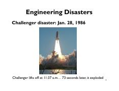 Lecture 11 Engineering Disasters - section 1