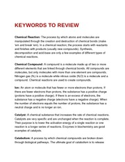 Keywords to Review