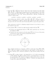 Math 300 Assignment #7 Solutions