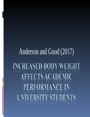 Increased body weight affects academic performance in university students first presentation.ppt