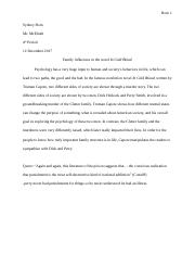 Sydney Born In Cold Blood Essay.docx