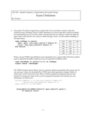 Exam 2 Solution Fall 2010 on Introduction to Digital Logic and Computer Design