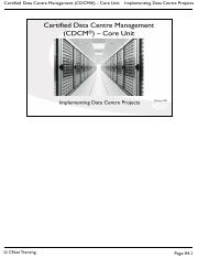 04 Implementing Data Centre Projects - CDCM 1608.pdf