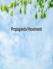 Lesson 6- Propaganda Movement