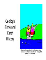 Topic 6 Earth history