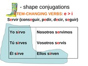 boot shape conjugations e to i