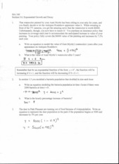 Section 3.6 Exercise (Exponential growth and decay)
