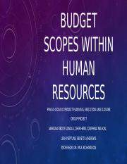 Budget scopes within human resources group project.pptx