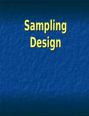 2011 Review of sampling and experimentation.ppt