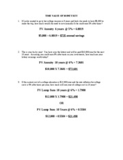 Time Value of Money KEY