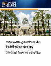 3203 Promotion Management for Retail at Brookshire Grocery Co