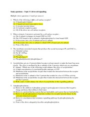 Topic 5 study questions with answers