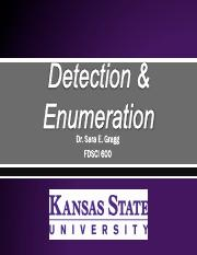 Lecture 3_Detection & Enumeration