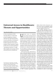 Universal Access to Healthcare - Threats and Opportunities.pdf