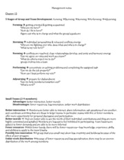 Management 3343 chapter 13 notes