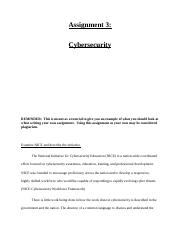 CIS 502 - Assignment 3 - Cybersecurity.docx