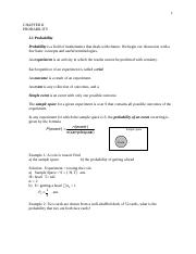 Introduction to Probability .docx