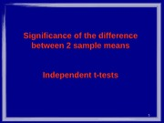 L5 W6 Independant T Tests - Significance of Difference Btwn 2 Sample Means PSYC2002