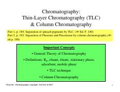 Lab4 - Chromatography 1 slide per page