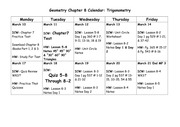 Trig Plan of Action Calendar 2014