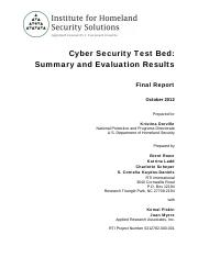 Cyber-Security-Test-Bed_Final-Report_Rowe
