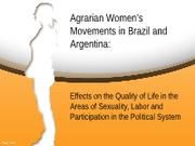 Agrarian Women's Movements powerpoint