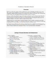 Foundations of Quantitative Research notes