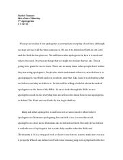 Final Draft-Apologetics Paper