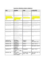 Drugs and Human Behavior Updated Course Schedule