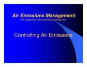 Controlling Air Emissions