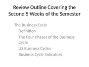 Review Outline Covering the Second 5 Weeks of
