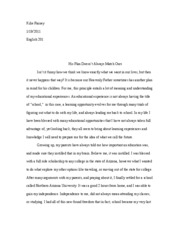 analytical essay 1