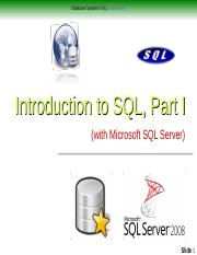 3-Database Systems II - Relational Databases and SQL